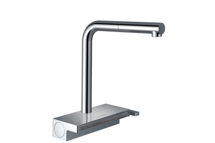 Змішувач Aguno Select 250 2jet кухонний з витяжним виливом Sbox (73830000)