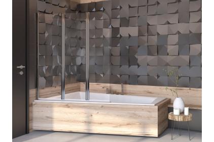 Шторка для ванни Prime 3S 120x140 прозора