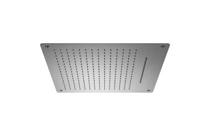 """NK LOGIC Верхній душ вбудований 60х60 см: функціі: дощ 16 л/хв, каскад 22 л/хв, підключення 1/2"""" (100137920)"""