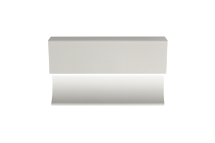 Декоративний плінтус PRO-SKIRTING LED WHITE 6х250х1,2