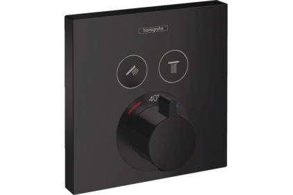 Термостат прихованого монтажу ShowerSelect на 2 клавіші, Matt Black (15763670)