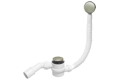 """Сифон для ванны """"клик-клак"""" Сталь HC2600CLSN (комплект BODY)"""