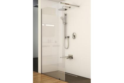 Стенка для душа Walk-In Wall-120 h.200. Транспарент - полированный алюминий GW9WG0C00Z1