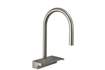 Змішувач Aquno Select 170 3jet кухонний з витяжним виливом Sbox (73831800) Stainless Steel