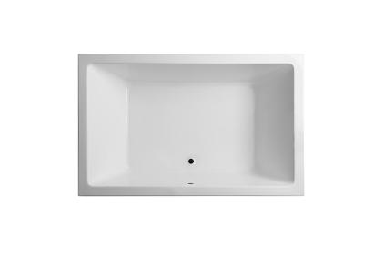 MINIMAL DUO Ванна акрилова 190х120 · 61H, 510 л, без перелива, злив по центру, біла блискуча (100056665)
