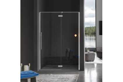 ZENITH душевые двери в нишу 117.5 / 120.5x200 левые стекло прозрачное TR / профиль хромированный (B9105ULUTR / SX)