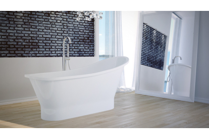 Ванна GLORIA NOVA ретро 160х68 с сифоном клик-клак / без перелива