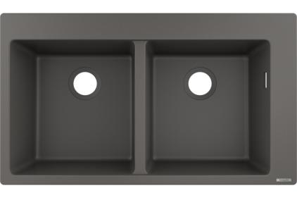 Кухонна мийка S510-F770 770х510  дві чаші 370/370 Stonegrey (43316290)