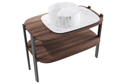G164 Комплект мебели BALDA NEVE DI CARRARA-AMERICANO 60X90X103