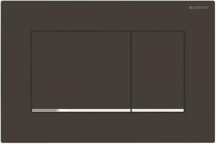 Кнопка смыва Sigma 30 черный матовый / хромированный глянцевый (115.883.14.1)
