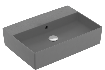 MEMENTO 2.0 Раковина на столешницу 60х42 мм без отверстия Graphite (4A226FI4) Titan Ceram